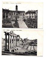 """ITALIE . ROMA . """" IL CAMPIDOGLIO . PALAZZO COMUNALE """" & """" FORO ROMANO  """" . 2 CARTES POSTALES - Réf. N°8409 - - Roma (Rome)"""