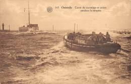 OSTENDE - Canot De Sauvetage En Action Pendant La Tempête - Oostende