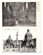 """ITALIE . ROMA . """" FORO E COLONNA DI TRIANO """" & """" INTERNO DI S. PIETRO """" . 2 CARTES POSTALES - Réf. N°8411 - - Roma (Rome)"""