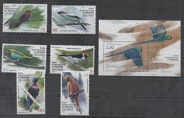 FAUNA, 2017, MNH, BIRDS, PARRTOS, BRASILIANA 2017 , 6v+S/SHEET - Parrots