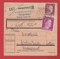Colis Postal  -  Départ Saargemünd ( Sarreguemines )  -  5/6/1943 - Germany
