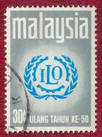 Malaysia 1970 30c 50th Anniversary Of ILO SG72 Used - Malaysia (1964-...)