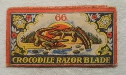Very Old Razor Blade In Ambalage CROCODILE Long Life - Razor Blades