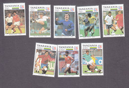 Tanzania, Scott #1057-1064, Mint Hinged, Soccer, Issued 1993 - Tansania (1964-...)