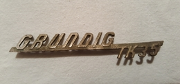 Old Vintage Metal Sign GRUNDING TK 35 - Music & Instruments