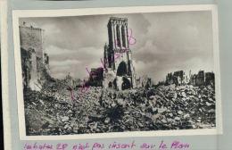 PHOTO Guerre 1939/45 CAEN Juin-Juillet 1944  Eglise St-JEAN Sa Tour Penchée  Désert De Ruines R. Delassalle   M 2018 771 - Other Photographers