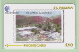 St Helena - 1999 Cable & Wireless - £10 The Briars - STH-33 - VFU - St. Helena Island