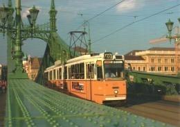 TRAM TRAMWAY RAIL RAILWAY RAILROAD GANZ MAVAG CSMG GCSM ICS BKV FREEDOM LIBERTY BRIDGE BUDAPEST * Reg Volt 0194 Hungary - Tramways