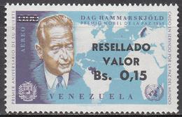 VENEZUELA   SCOTT NO. C876     MINT HINGED    YEAR  1965 - Venezuela