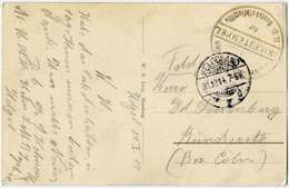 Germany 1914 Navy WW1 SUBMARINE Deutschland Marine Feldpost U-Boot HELGOLAND Naval Field Post Postcard SMS KÖNIG ALBERT - Submarines