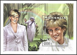 Mongolia  1997   Sc#2293  Diana & Mother Teresa Souv Sheet  MNH**   2016  Scott Value $3.50 - Mother Teresa