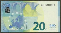France - 20 Euro - U008 D3 - UC1165555558 - Draghi - AUNC - EURO