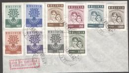 BOLIVIE  1960 Année Mondiale Du Réfugié  Série Complète Sur FDC - Bolivia