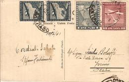 (St.Post.).Cile.Posta Aerea.Affrancatura Del 12 Feb 1941 Su Cartolina (90-16) - Chile
