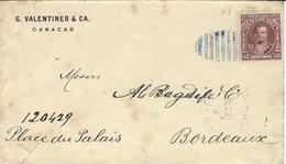 1907- Enveloppe De Caracas Affr.  50 C  Pour La France - Venezuela