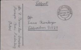 Feldpostbrief Mit Inhalt - 1944 - Stempel Mellau Zichenau (Polen) - Deutschland