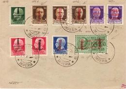 (St.Post.).R.S.I.Affrancat.filatelica Periziata Con Varietà Di RSI E Annulli Di S.Remo Su Cart. Per Le F.Armate (147-15) - 1944-45 République Sociale