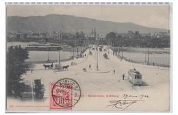 SUISSE -- CANTON DE ZURICH-- PONT ET QUAI UETLIBERG -- CP 1904 --PLI D'ANGLE-- - ZH Zurich