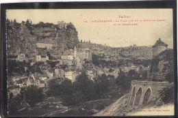 4698 . ROCAMADOUR .LA VILLE VUE DE LA ROUTE DE CAHORS ET LE PIGEONNIER .  (recto Verso) - Rocamadour