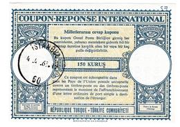 Coupon-réponse 150 Kurus - Istanbul 1963 - C 22 - Turquie Turkiye - IRC CRI IAS - 1921-... Republic