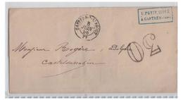 """FRANCE -- TARN -- LETTRE DE 1856 DE CASTRES/AGOUT -- TAXE AU TAMPON """"30"""" - 1849-1876: Période Classique"""