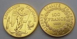 COPIE - 1 Pièce Plaquée OR ( GOLD Plated Coin ) - France - REPRODUCTION 100 Francs Génie 1889 A - France