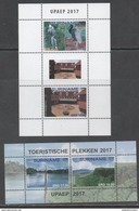 SURINAME, 2017, MNH, UPAEP, TOURIST PLACES, BIRDS, WATERFALLS, MOUNTAINS, 2 SHEETLETS - Birds