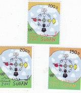 Sudan 2002 Civilization Dialogue 3v. Complete Set MNH - Scarce Set - High Cat.30 Euros - SKRILL PAY. ONLY - Sudan (1954-...)