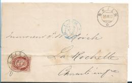 Nor084 /  NORWEGEN - Facit 43, Prachtexemplar 1882, Skien Nach La Rochelle, Frankreich - Norwegen