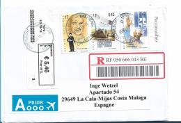 B389 / BELGIEN -  Einschreiben Nach Spanien 2018 - Belgium