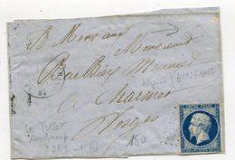 VOSGES De BUSSANG Devant De Lettre Du 18/03/1856 Boîte Rurale C + N°14 Oblitéré PC 3368 De TILLOT RAMONCHAMP - Marcophilie (Lettres)