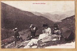 X09179 Peu Commun A La Fontaine GUINDOULE Pique-Nique La Haute Ariège 1900s Collection De PORT. - Autres Communes