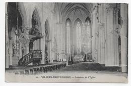 VILLERS BRETONNEUX EN 1915 - N° 11 - INTERIEUR DE L' EGLISE - LEGERS PLIS A GAUCHE - CPA VOYAGEE - Villers Bretonneux