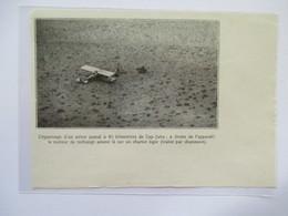 1928 - Tarfaya - Cap Juby Rio De Oro - Escale Aeropostale    - Ancienne Coupure De Presse (Encart Photo) - Historische Dokumente