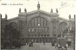 PARIS  La Gare Du Nord Recto Verso - Arrondissement: 08