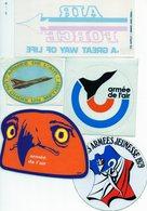 5 Autocollants Sur Le Thème De L'Armée. Militaire Années 70. - Stickers