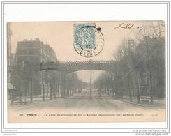 75 PARIS 12 E LE PONT DU CHEMIN DE FER AVENUE DAUMESNILE VERS LA PORTE DOREE CPA BON ETAT - Openbaar Vervoer