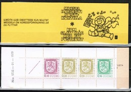 1979 Finland, Scarce Slot Machin Booklet Facit HA 13 I B 1735, Double Depressed Cover Printing. - Finlande