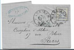 EL086 / Elsass -  Mit Franz. Taxstempel 1871, Markirch Nach Paris - Elzas-Lotharingen