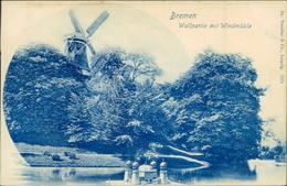 AK Windmühle Moulin Molen Windmolen, Bremen, Um 1900 (29617) - Windmills