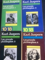 Karl Jaspers: Les Grands Philosophes (4 Tomes En 10-18) - Books, Magazines, Comics