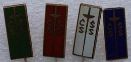 4 Pin's . Old Lapel Pin . Escrime Fleuret épée Fencing - Fencing