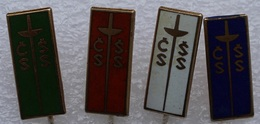 4 Pin's . Old Lapel Pin . Escrime Fleuret épée Fencing - Scherma