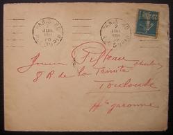 Paris (B080301): .PARIS-80 / RUE DUPIN + 5 L.D. égales Sur LSC De 1920 - Poststempel (Briefe)