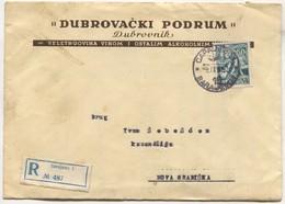 Yugoslavia - Dubrovački Podrum Dubrovnik, Sarajevo Memorandum Registered Cover, Letter With Content, 1955. - 1945-1992 Socialist Federal Republic Of Yugoslavia