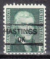 USA Precancel Vorausentwertung Preo, Locals Oklahoma, Hastings 835,5 - Préoblitérés