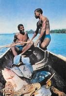 Saint Christophe Et Niévès Escale à Saint Kitts Avec Pêcheurs (2 Scans) - Saint Kitts And Nevis