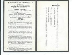 B.P. SEMMERZAKE DE BRUYCKER MARIA 1888 - 1949 VURSTE - Religion & Esotérisme