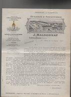 Chateaurenard (13 Bouches Du Rhône) Lettre à Entête MALDONNAT  Huilerie Savonnerie 192... (PPP8003) - Francia