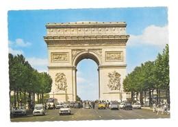 75 Paris Arc De Triomphe  Avec Automobiles Renault Peugeot Citroën (2 Scans) - Arc De Triomphe